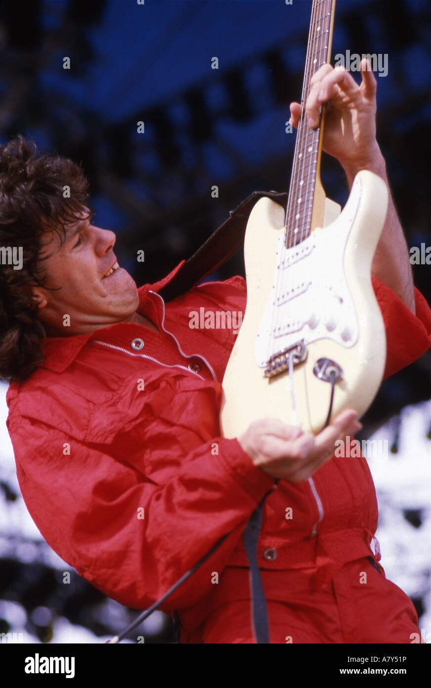 GARY MOORE irischer Gitarrist über 1985 Stockbild