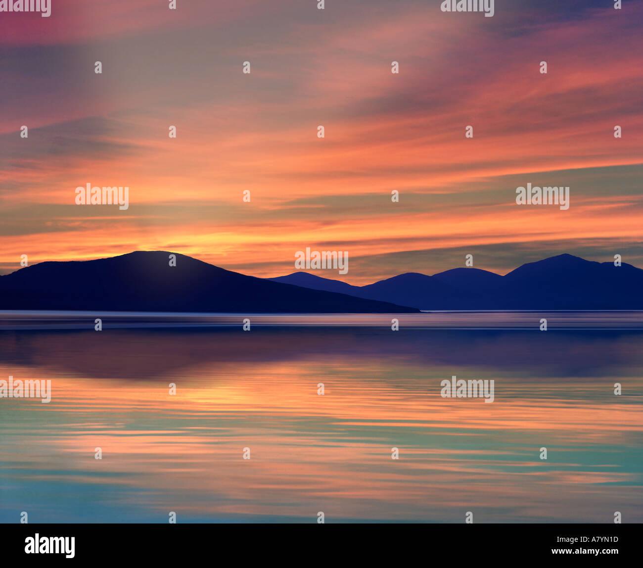 GB - äußere Hebriden: Sound der z. von Isle of Harris gesehen Stockbild