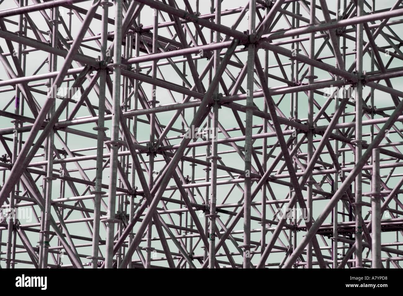 Muster von Gerüsten Stockbild