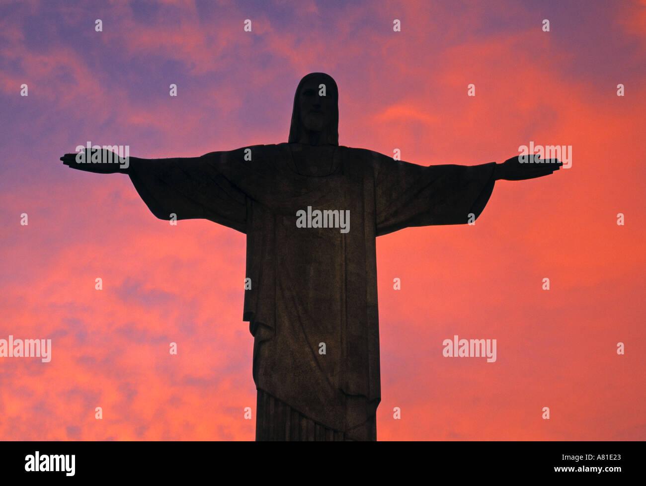 Christus der Erlöser Statue, Rio De Janeiro, Brasilien Stockbild