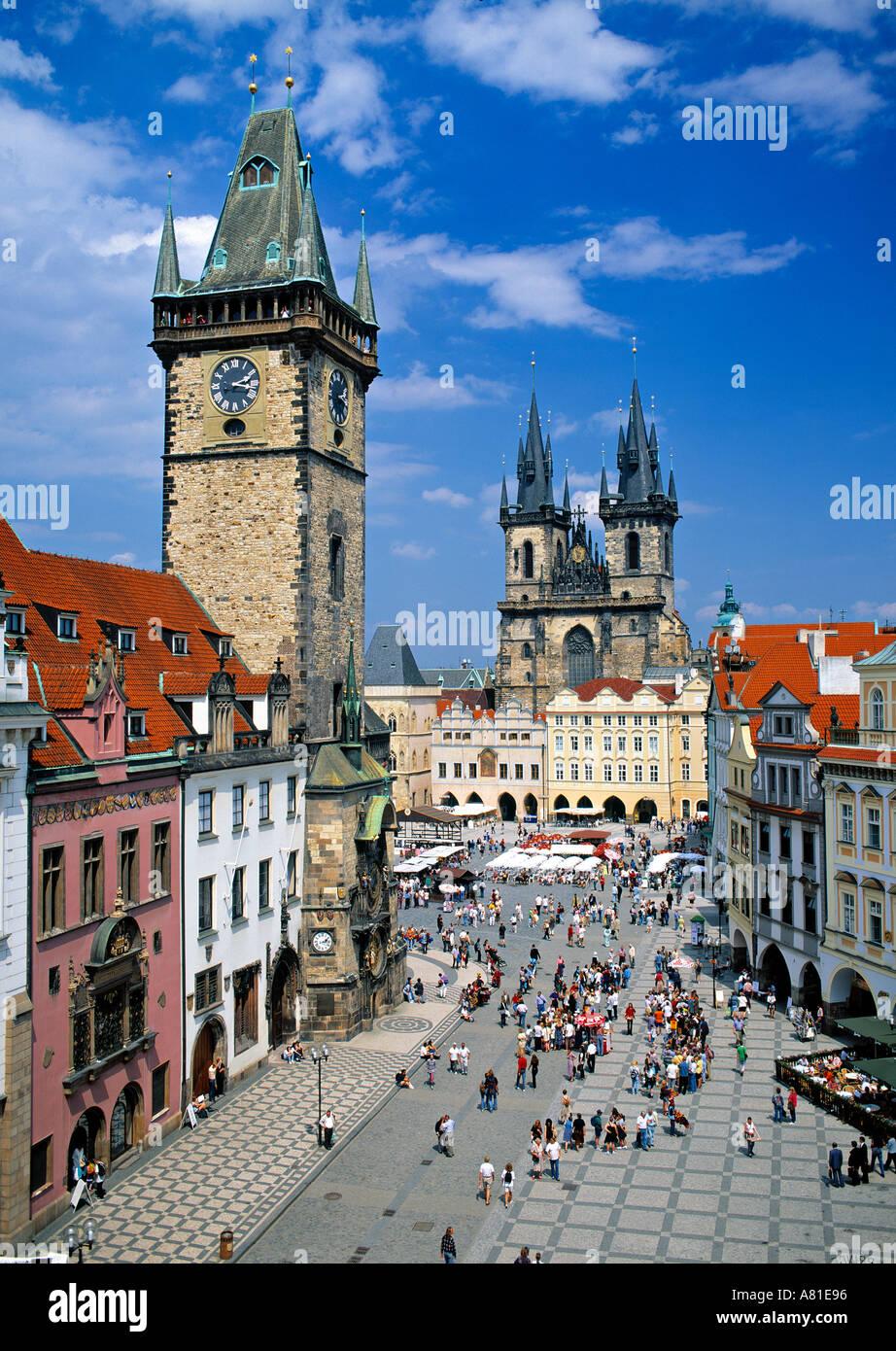 Altstädter Ring, Prag, Tschechische Republik Stockbild