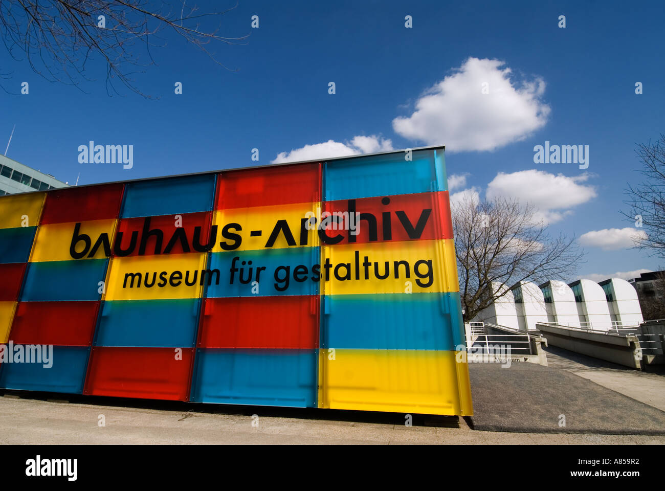 Eingang zum Bauhaus-Archiv Museum in Berlin Deutschland Stockbild