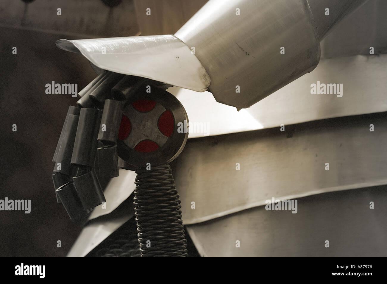 Nahaufnahme Schuss Metall Rüstung Stockbild