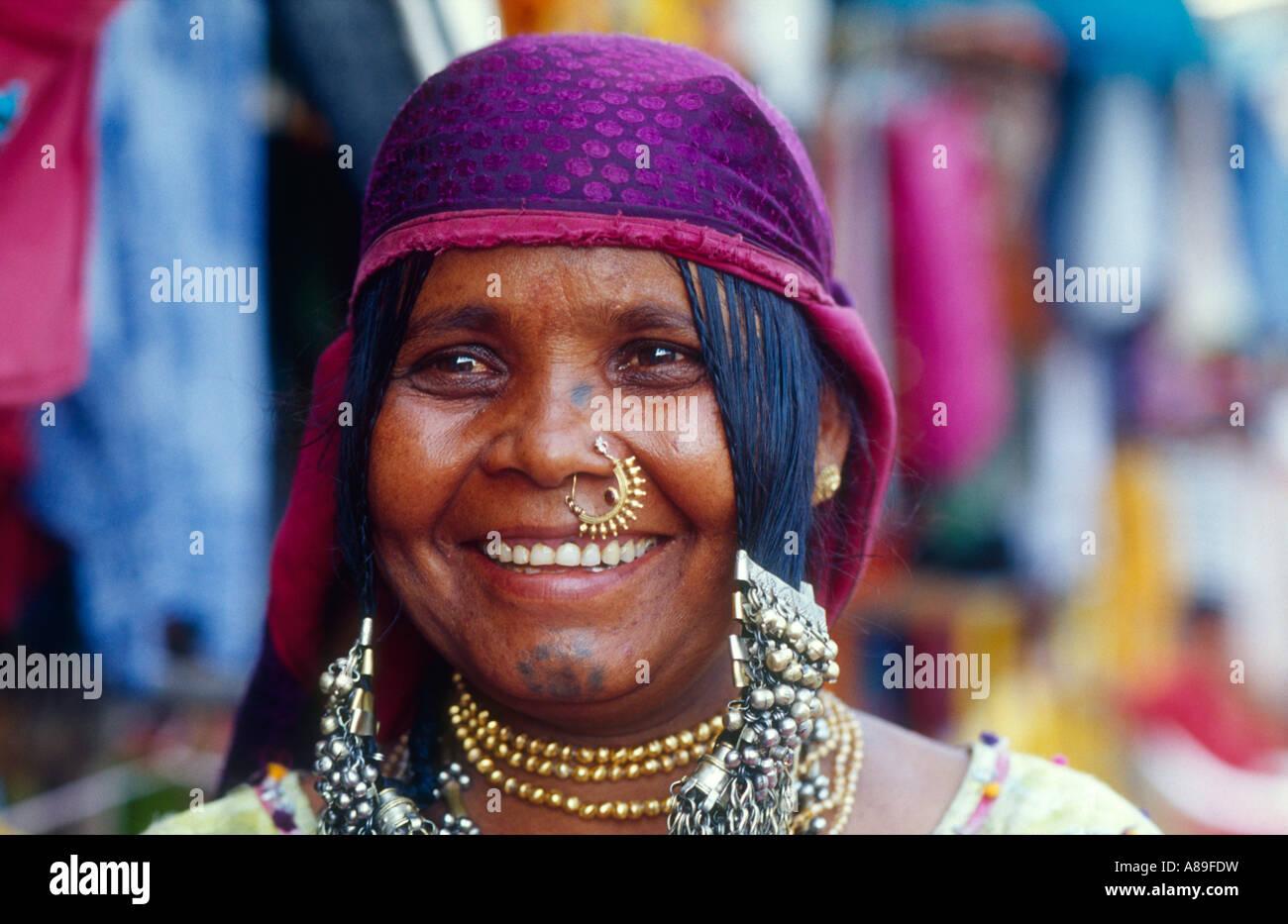 Porträt von einem Shop Besitzer, Palolem, Goa, Indien Stockbild