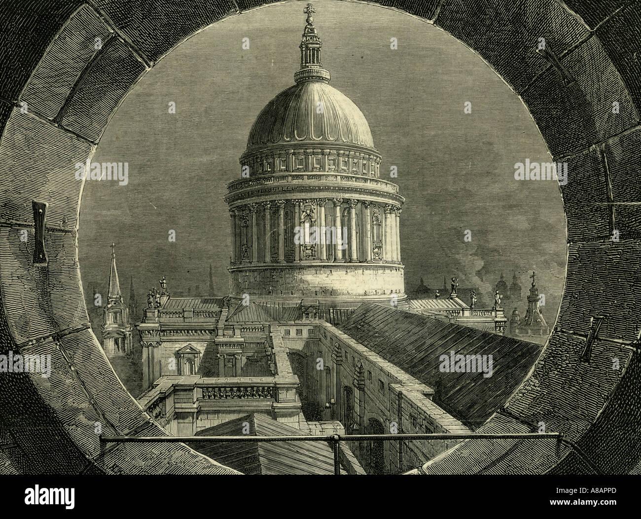 ST. Paul London, 1878 Stockbild