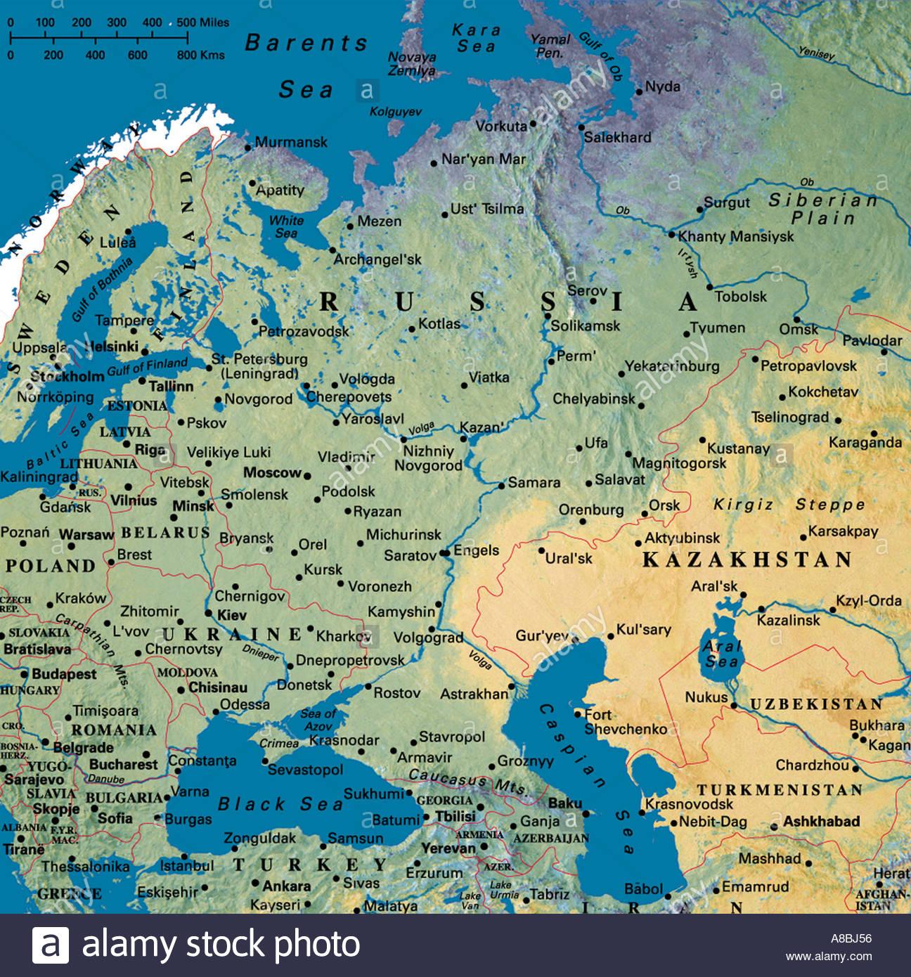 Karte Europa Asien.Karte Karten Europa Asien Russland Stockfoto Bild 3933781