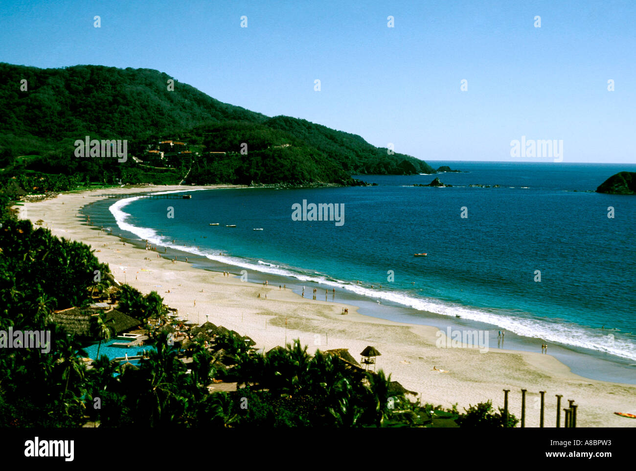Mexico-Ixtapa Beach Stockbild
