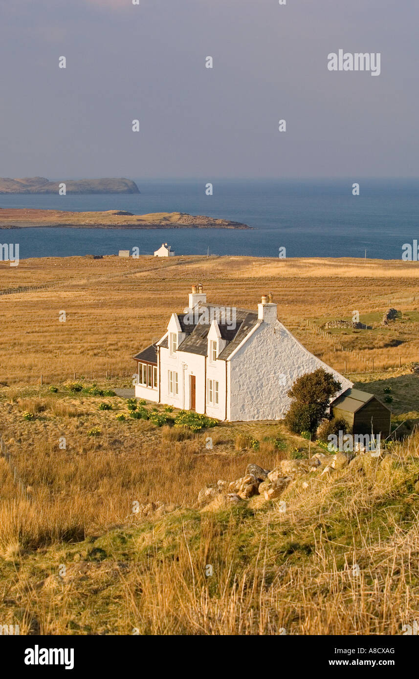 Isle Of Skye, innere Hebriden, Schottland. Häuser am Balmacqueen an ...