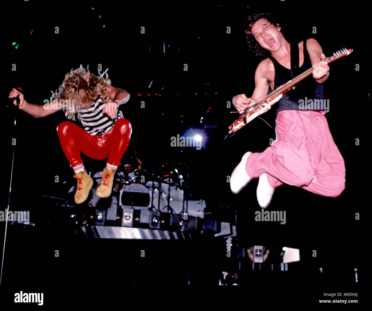 VAN HALEN - US-Rock-Gruppe im Jahr 1988 Stockbild