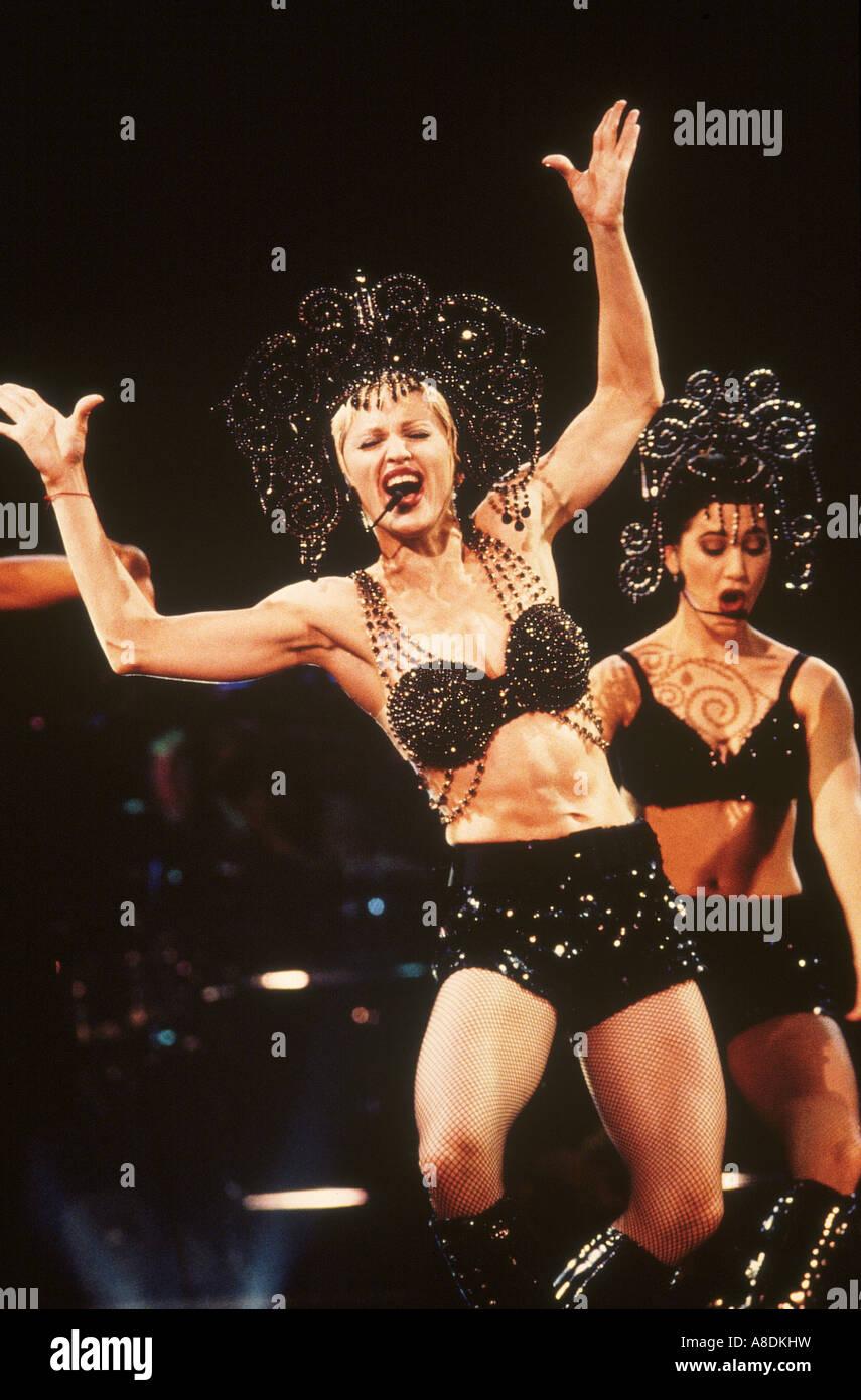 MADONNA - US-Sängerin in den 1990er Jahren Stockbild