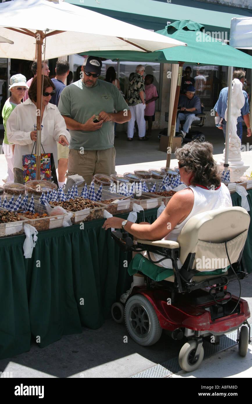Miami Beach Florida Lincoln Road Mall deaktiviert Snack Lieferant ...