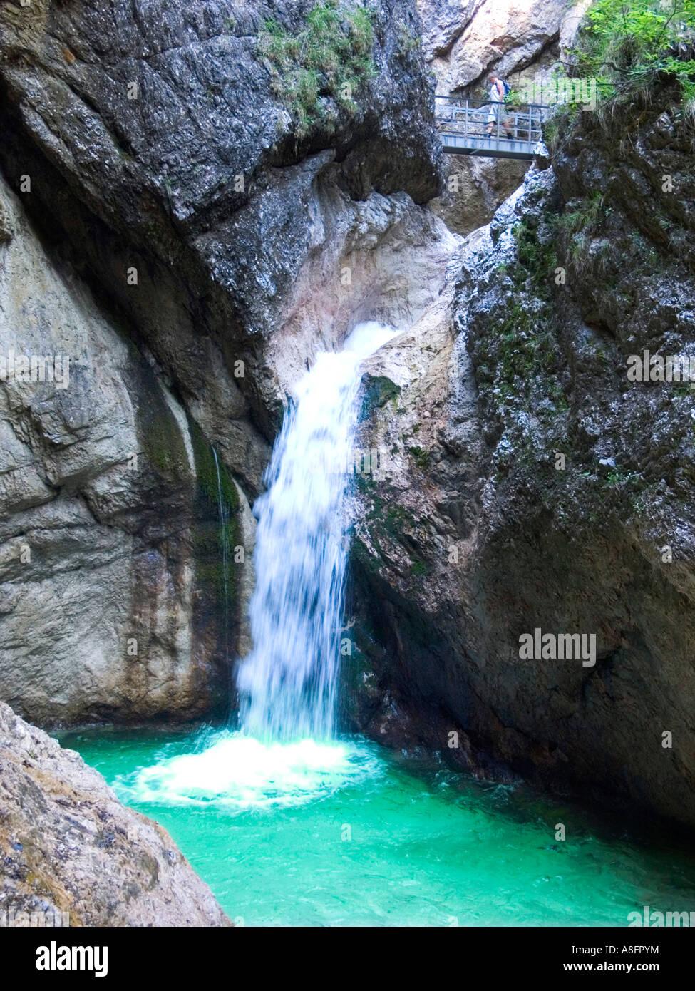 Almbachklamm Almbach Berchtesgaden Gorge Germany ...
