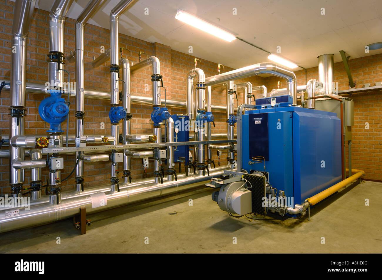 Wasserkocher Heizung Systeem Hauses von einem Gewächshaus Kessel Ort ...