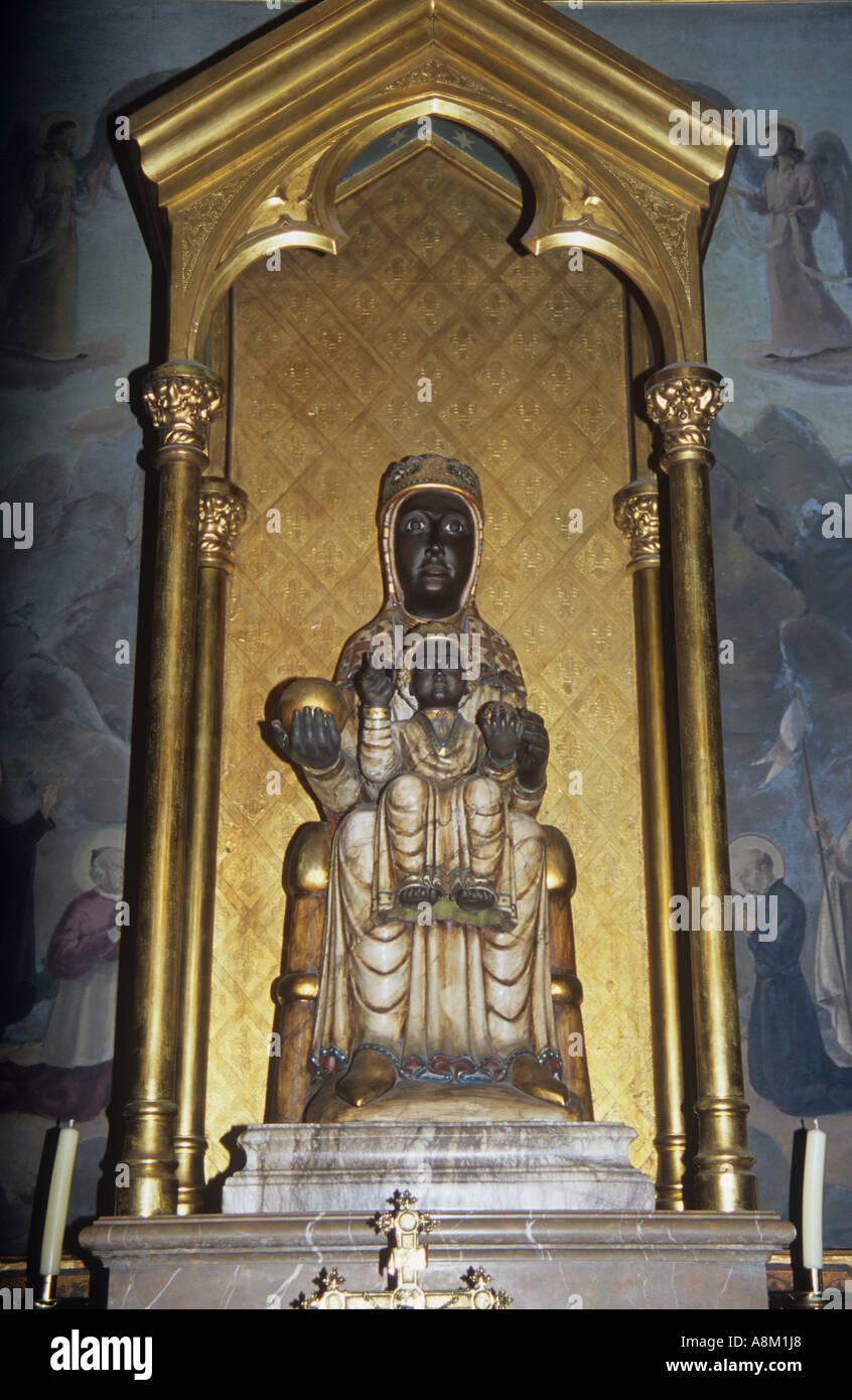 Schwarzen Madonna von Montserrat, Katalonien, Spanien Stockbild