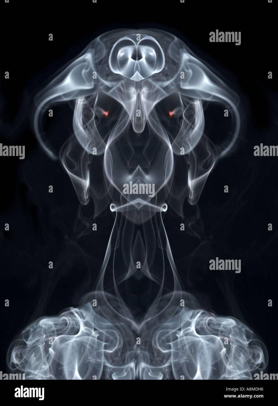 Rauch Dämon Stockbild