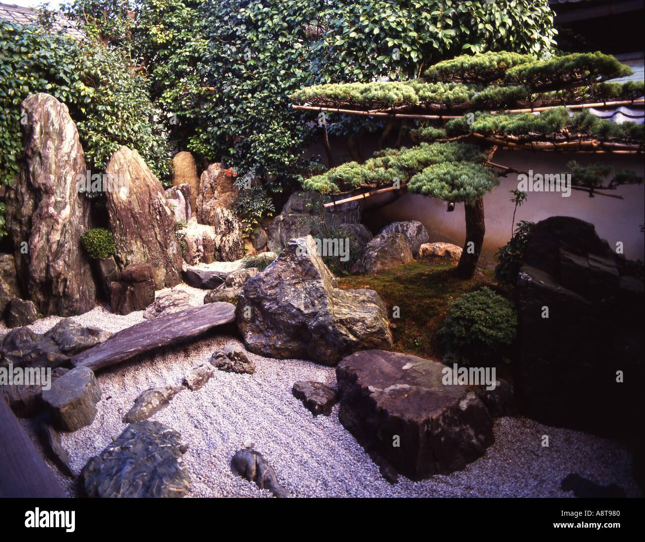 Japan Kyoto Daitoku Ji Buddhistischen Tempel Daisen Im Zen Garten