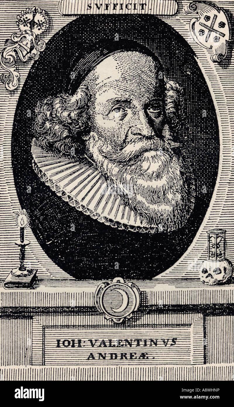 John Valentine Andrea 1586 1684 deutscher Theologe und Mönch aus dem Buch der Freimaurer von Eugen Lennhoff Stockbild
