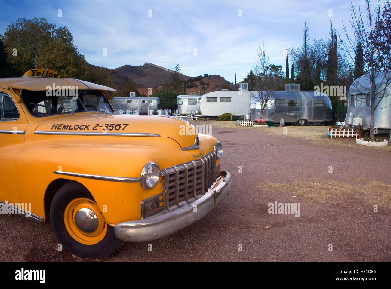 Oldtimer Anhänger Motel, Bisbee, Arizona, USA Stockbild
