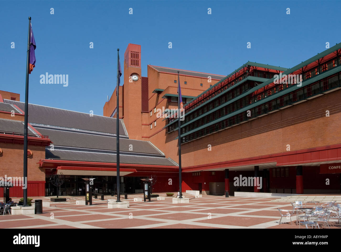 Die British Library - Kings Cross - London Stockbild