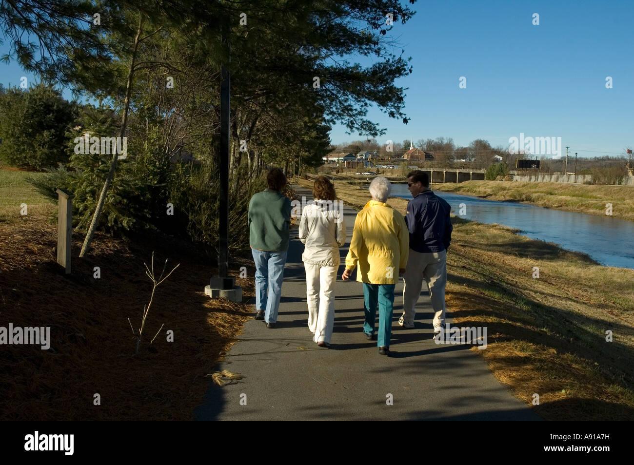 Fluss zu Fuß Trail Sevierville TN Stockfoto