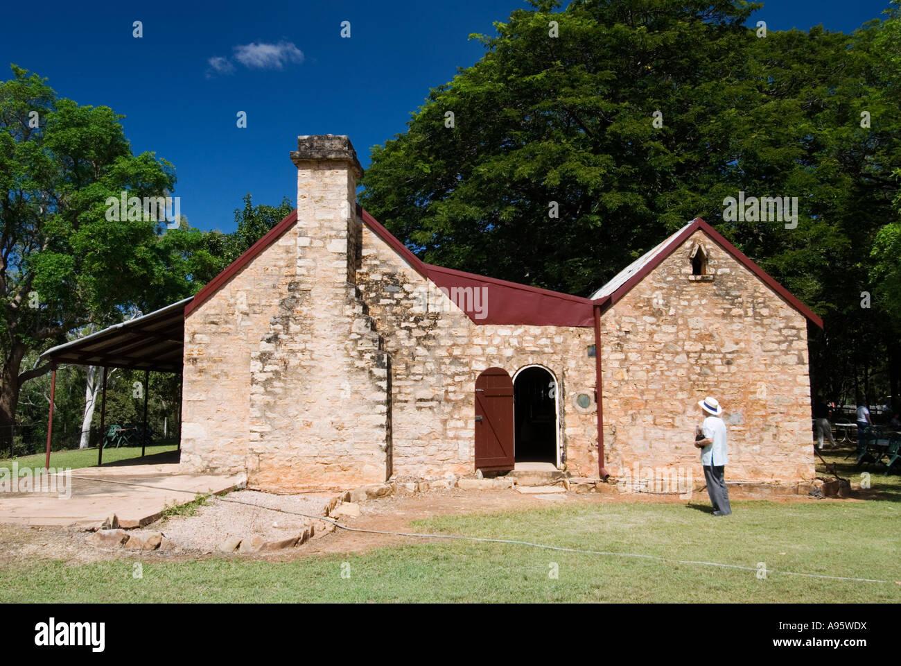Springvale Homestead erhalten outback landwirtschaftliches Gebäude in Katherine New Territories Australien Stockbild