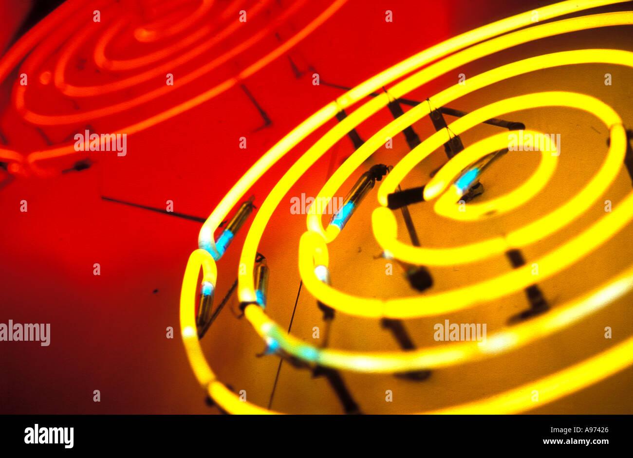 Leuchtreklame Stockbild
