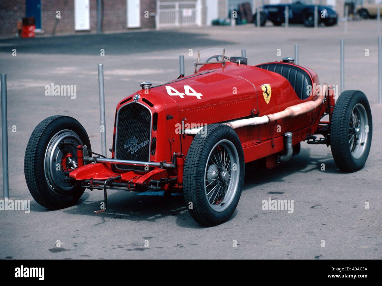 Alfa Romeo Monza Kompressor 8 Zylinder Sport Rennwagen Mit Rampante Emblem Von Der Scuderia Ferrari Aus Den 1930er Jahren Stockfotografie Alamy
