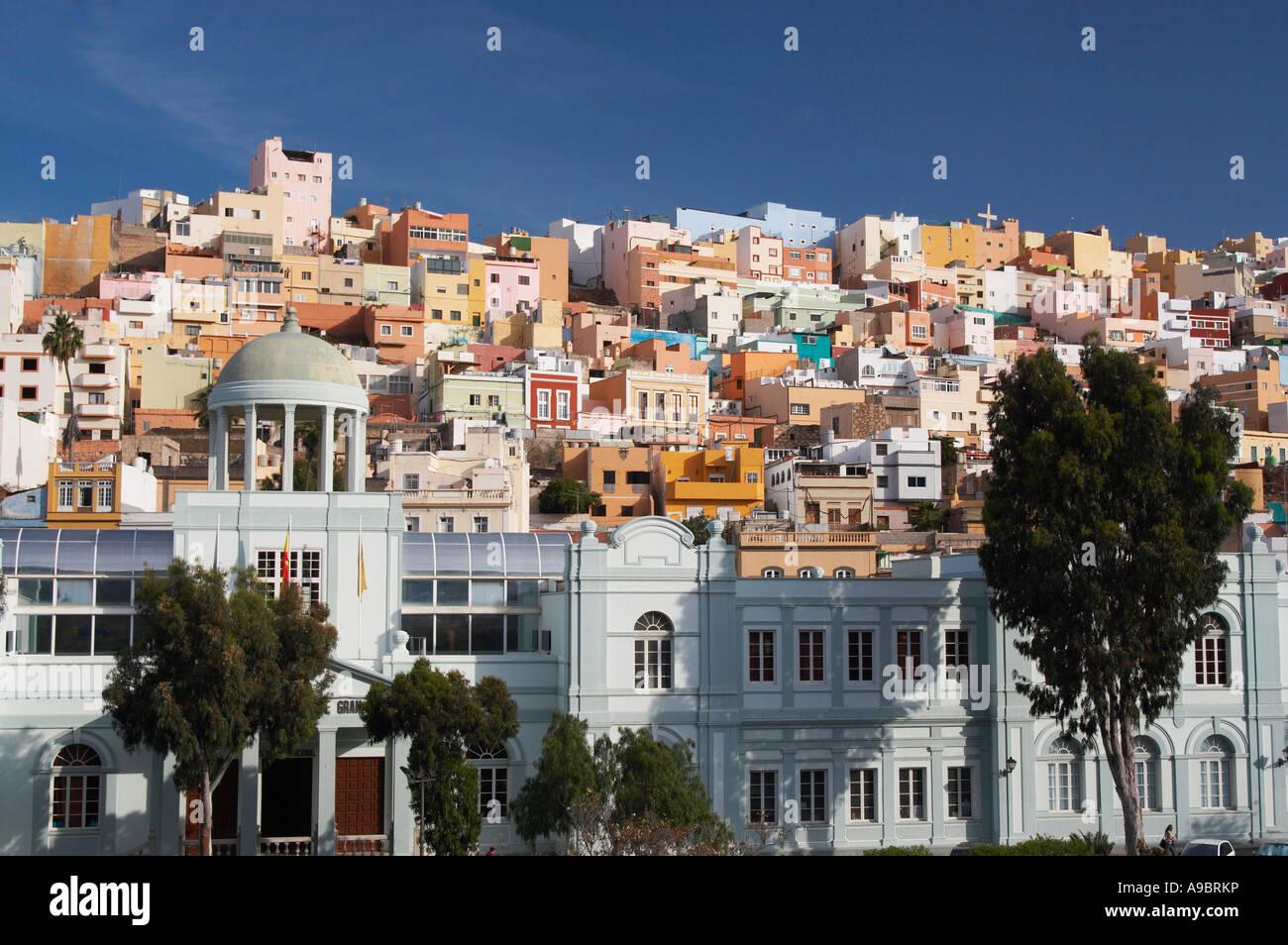 Bunte Häuser, Las Palmas, Gran Canaria, Kanarische Inseln