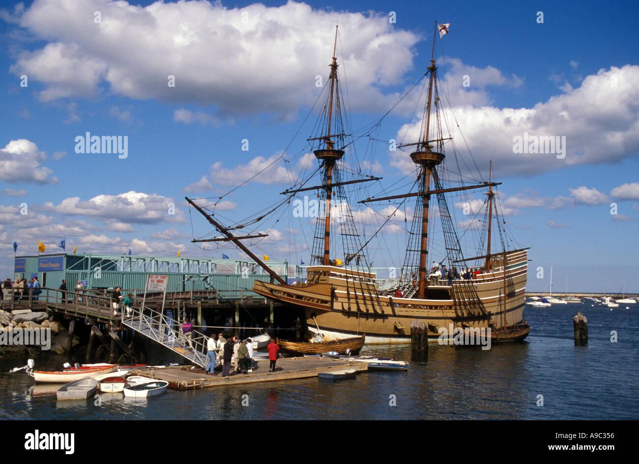 Massachusetts Plymouth Mayflower II Vollausschlag Replica gebaut in England 1955-57 Stockbild