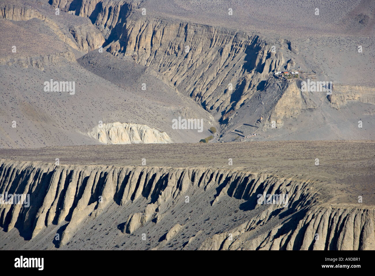 Annapurna Circuit Trek in Nepal Stockbild