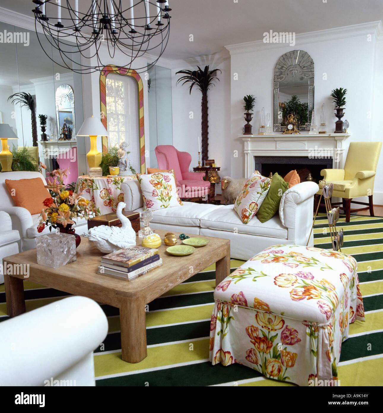 https://c8.alamy.com/compde/a9k14y/floral-gemusterte-hocker-80er-jahre-amerikanische-wohnzimmer-mit-grun-gelb-gestreiften-teppich-a9k14y.jpg