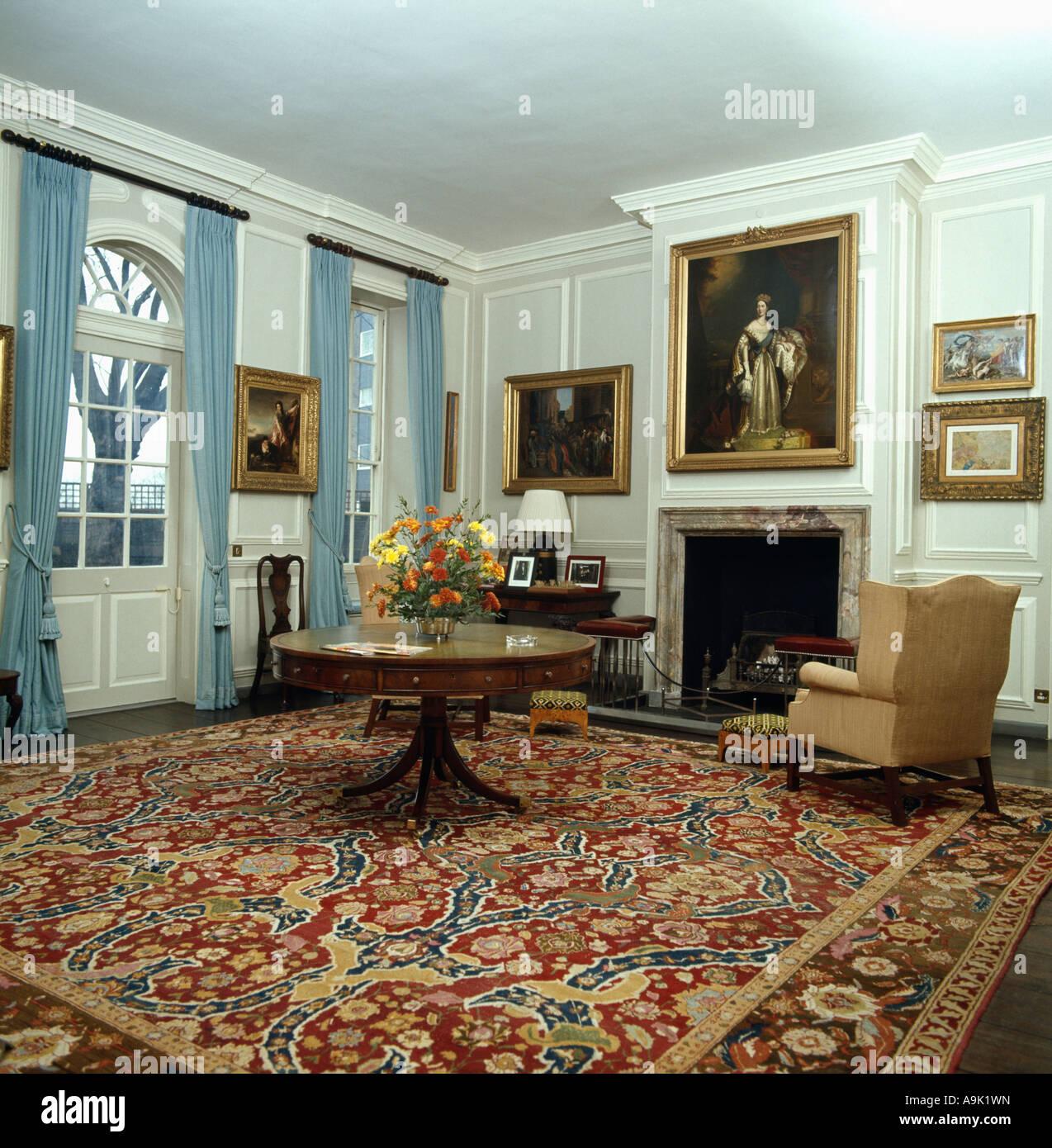 blauer runder teppich good petrol teppich grun blau braun. Black Bedroom Furniture Sets. Home Design Ideas