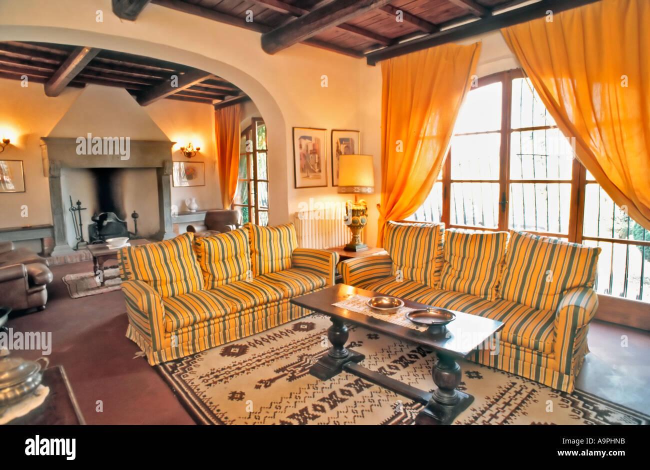 Italien, innen Luxusvilla mieten, um Touristen in Cavriglia, Toskana ...