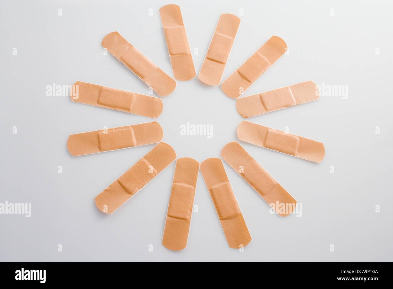 Selbstklebende Pflaster Stockbild