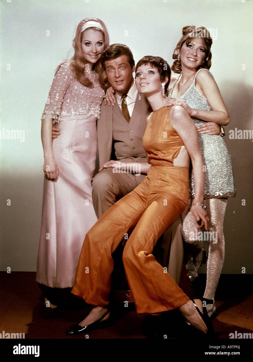 DIE SAINT - Roger Moore in der ITC-Fernsehserie Stockbild