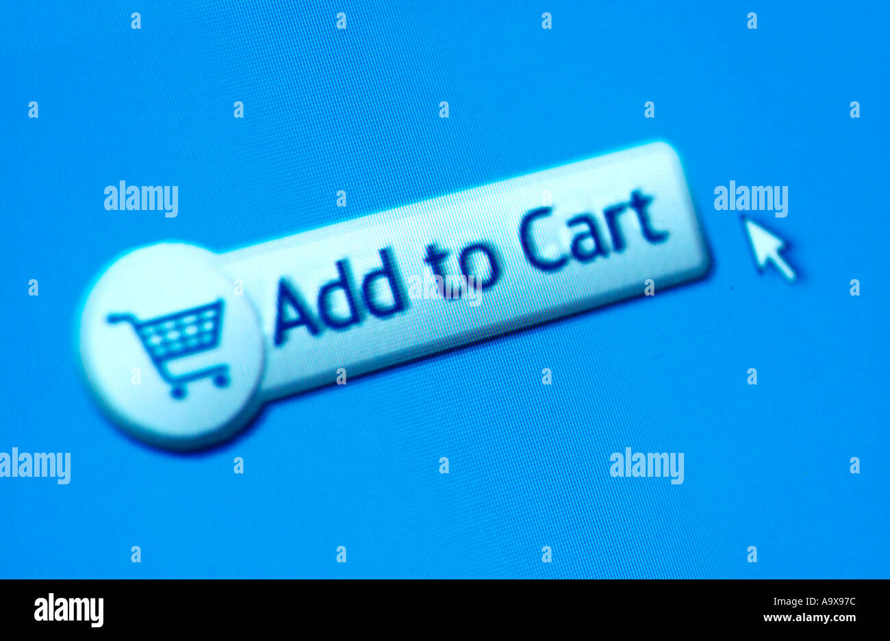 Online-shopping Warenkorb Stockbild