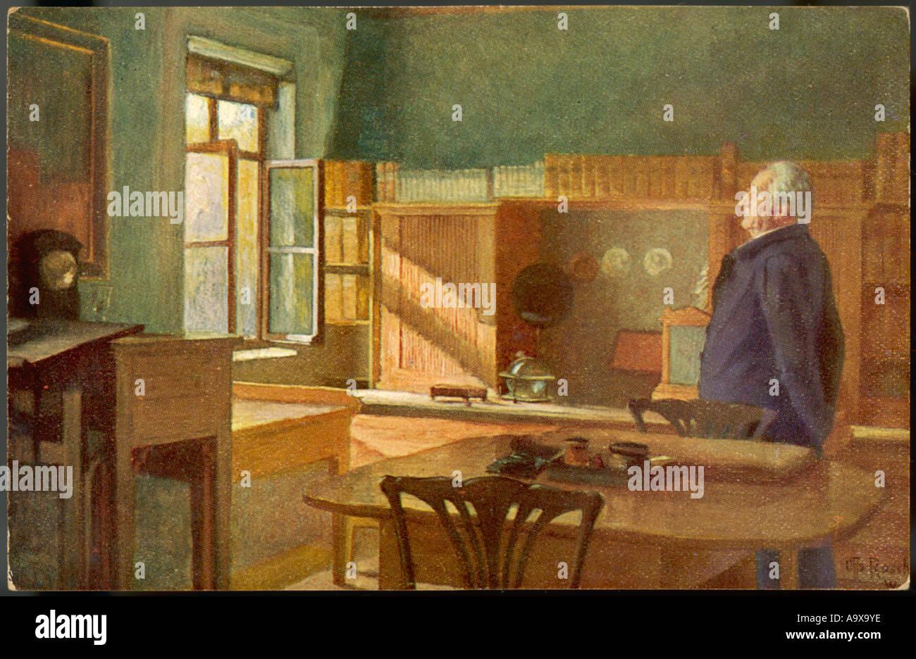 Goethe In seinem Arbeitszimmer Stockbild