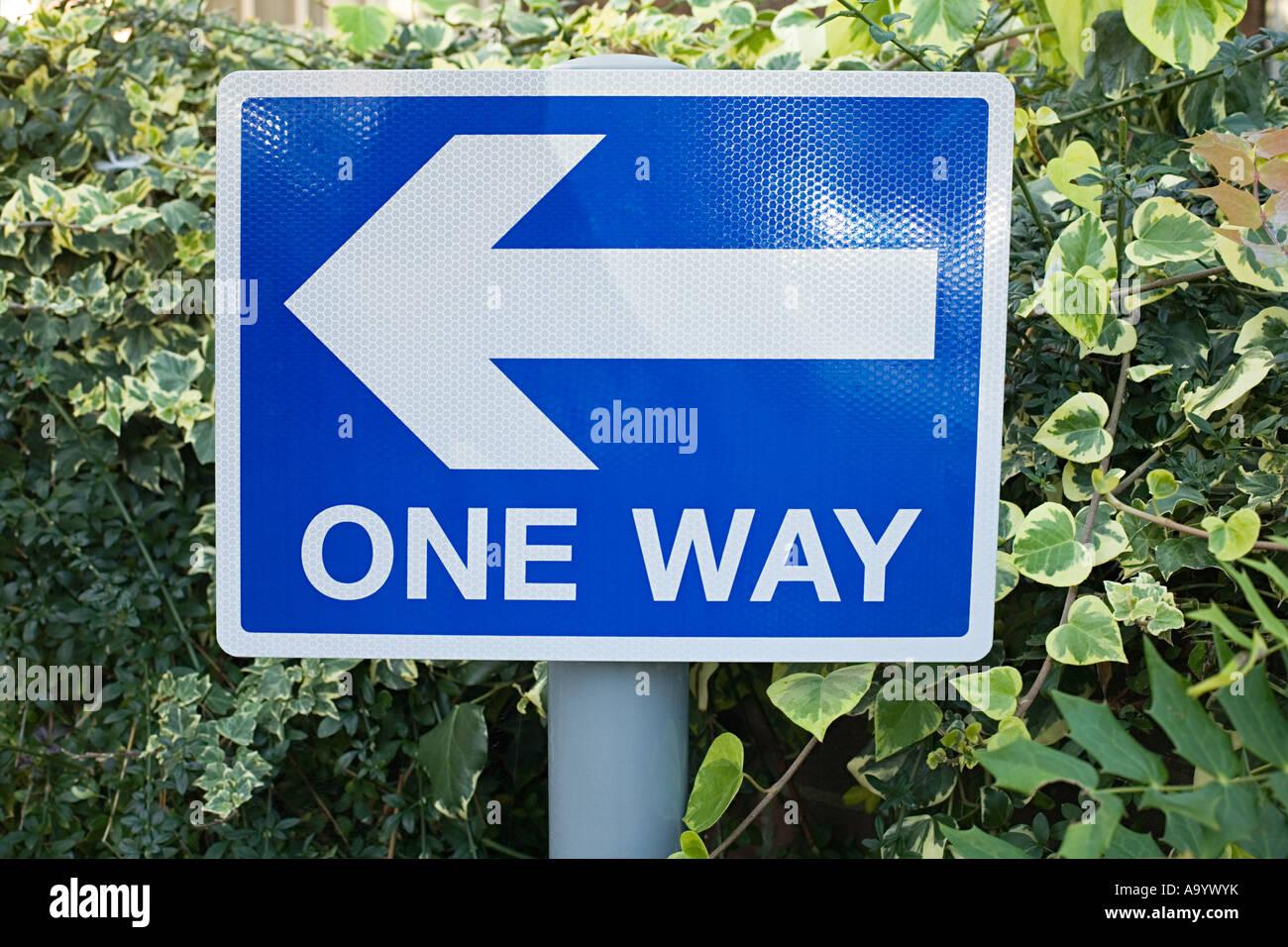 One way Zeichen Stockbild