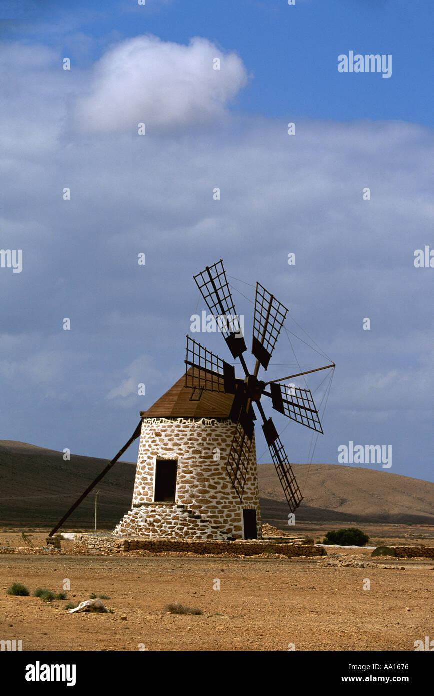 Spanien Kanarische Inseln Fuerteventura Windmühle von Tefia Stockfoto