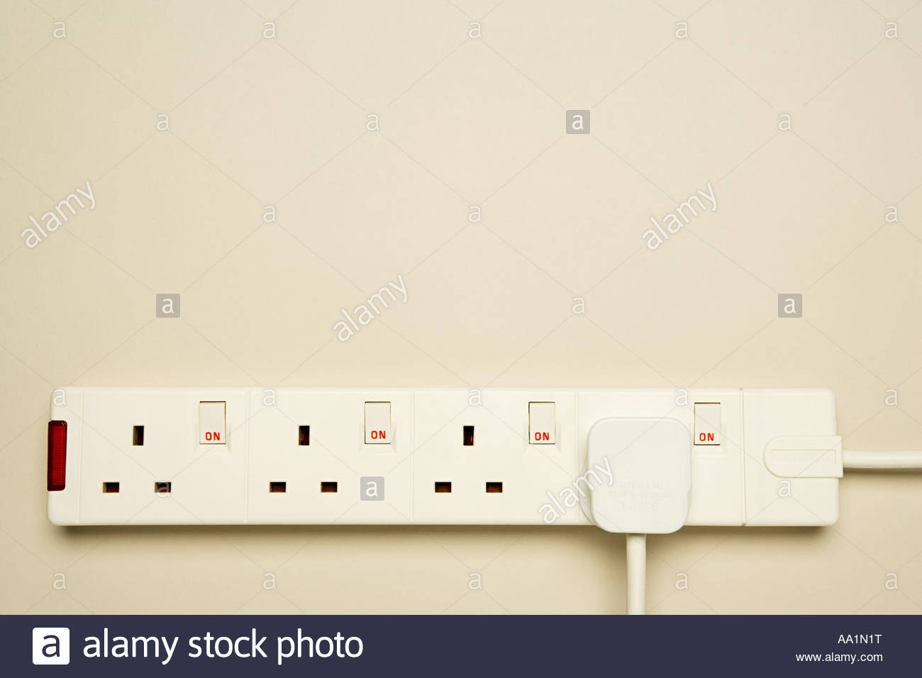 Elektrische Steckdose Stockbild