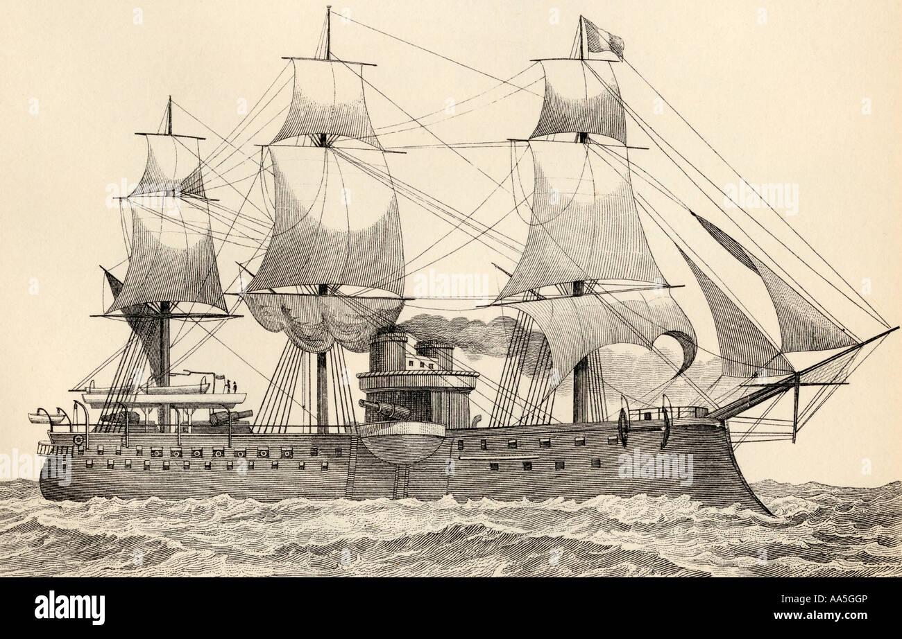 Admiral Duperre 11.100 Tonne Schlachtschiff der französischen Marine startete 1879 Stockbild