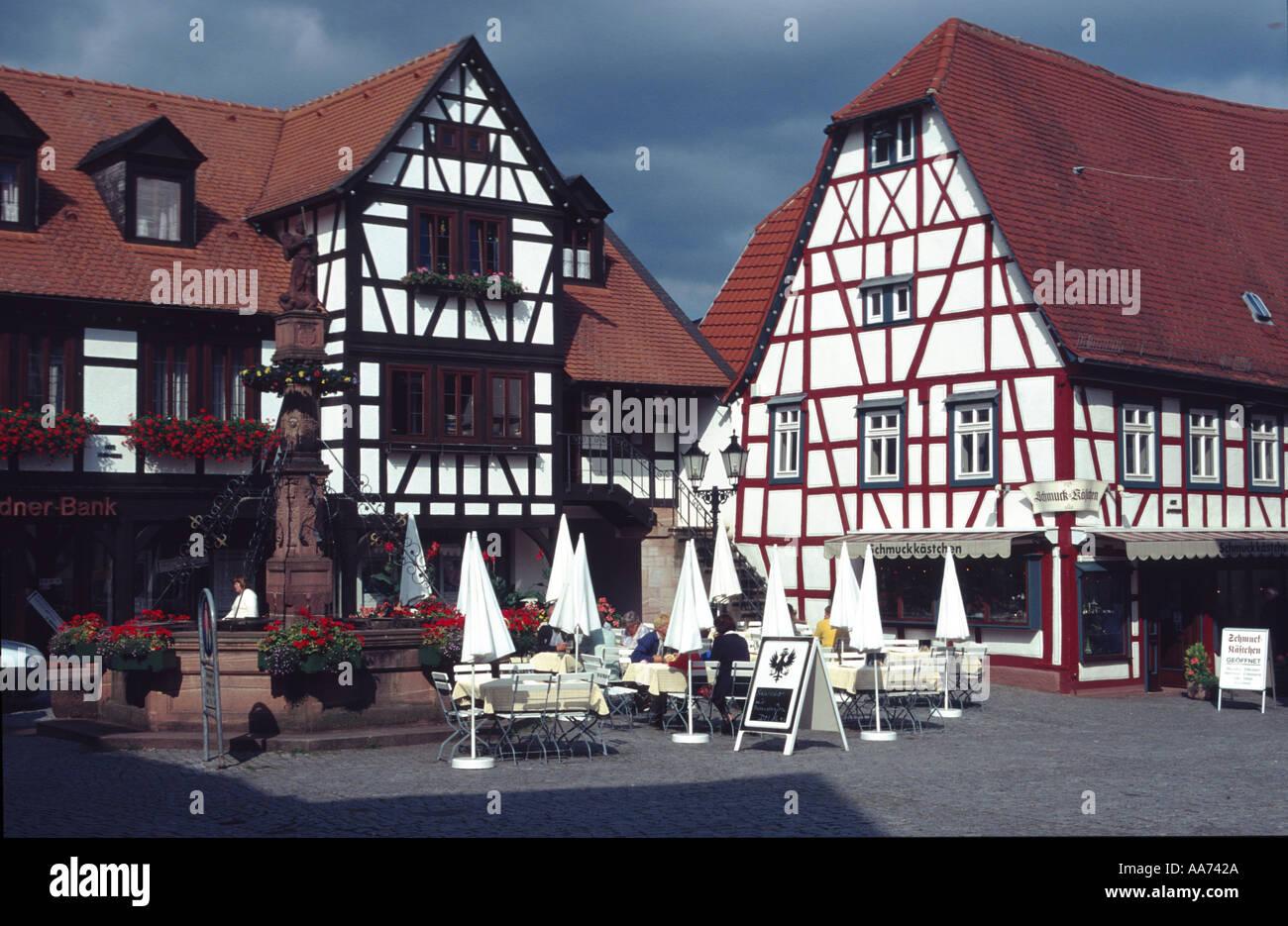 Deutschland Hessen Hessen Odenwald Michelstadt historischen Rahmen ...