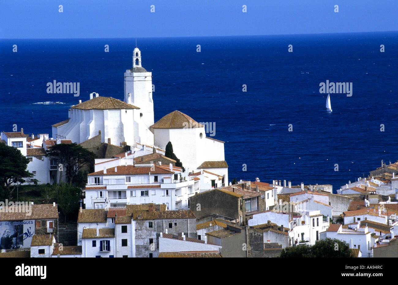 Cadaques Costa Brava Catalonia Spanien Stockbild