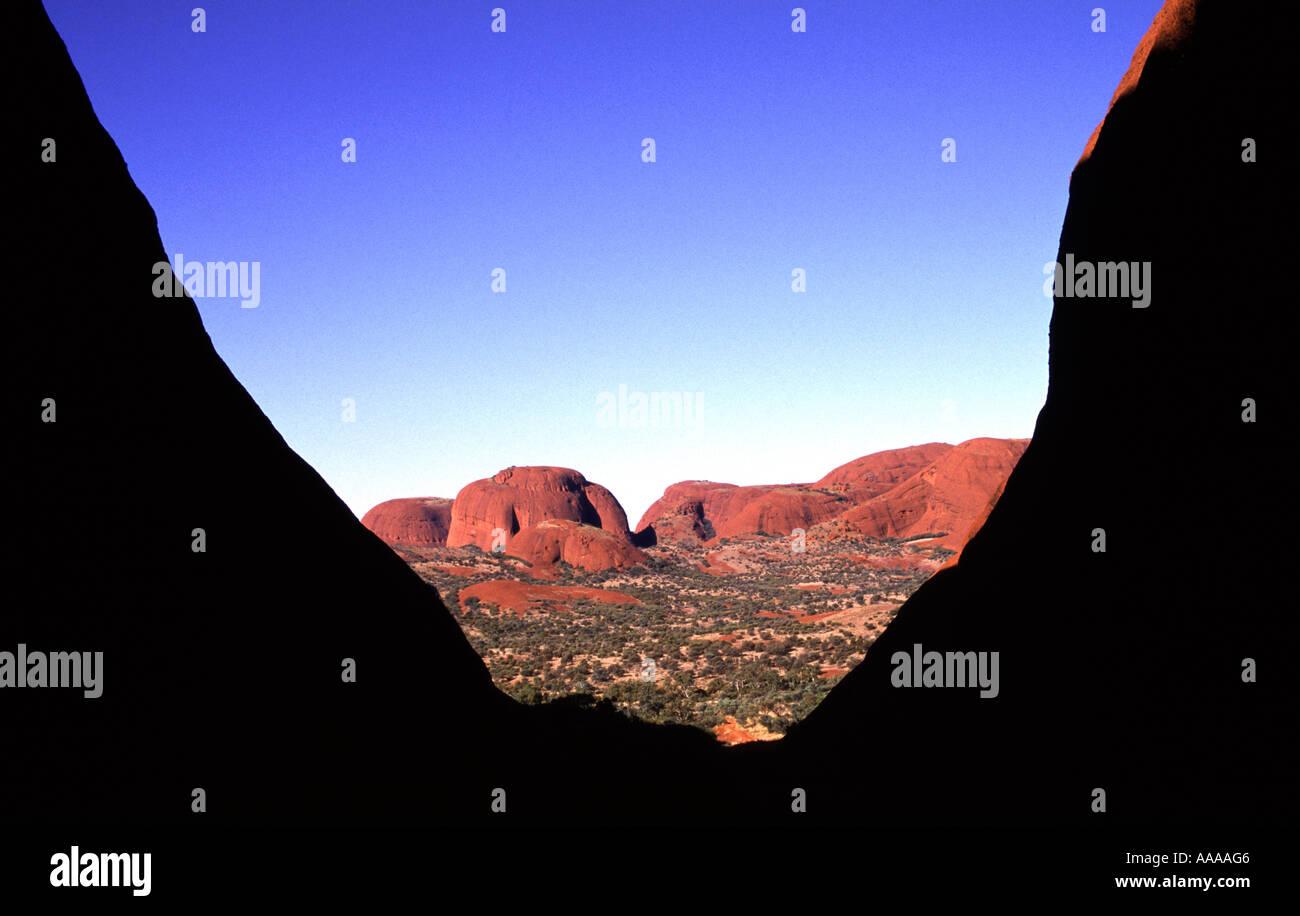 Valley of the Wind bei Kata Tjuta die Olgas in den nördlichen Territorien in Australien Stockfoto