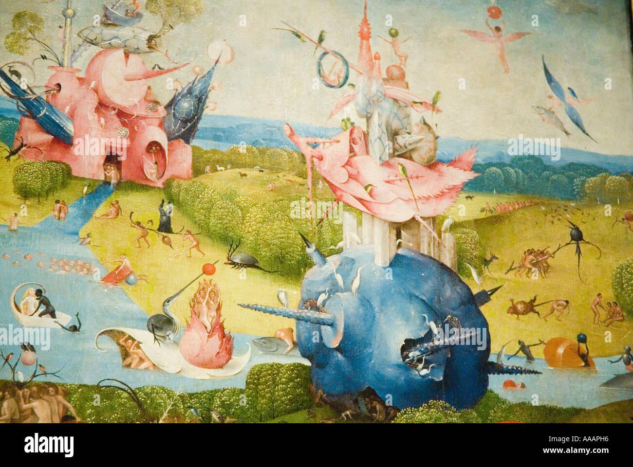 Der Garten Der Luste Von Hieronymus Bosch Malerei Stockfoto Bild