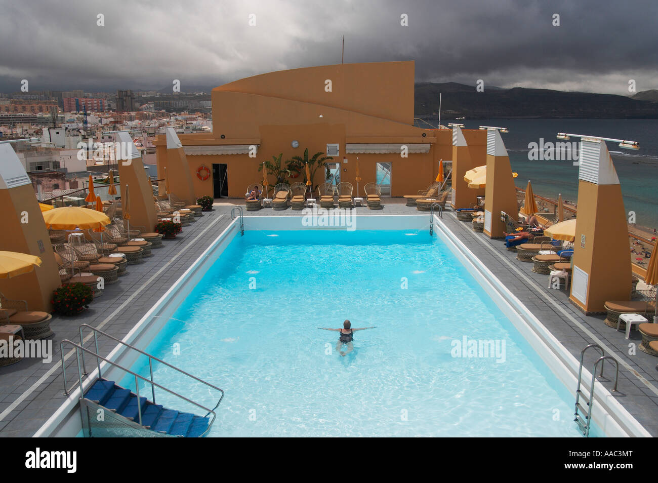 Auf Dem Dach Schwimmbad Hotel Reina Isabel Las Palmas Gran Canaria