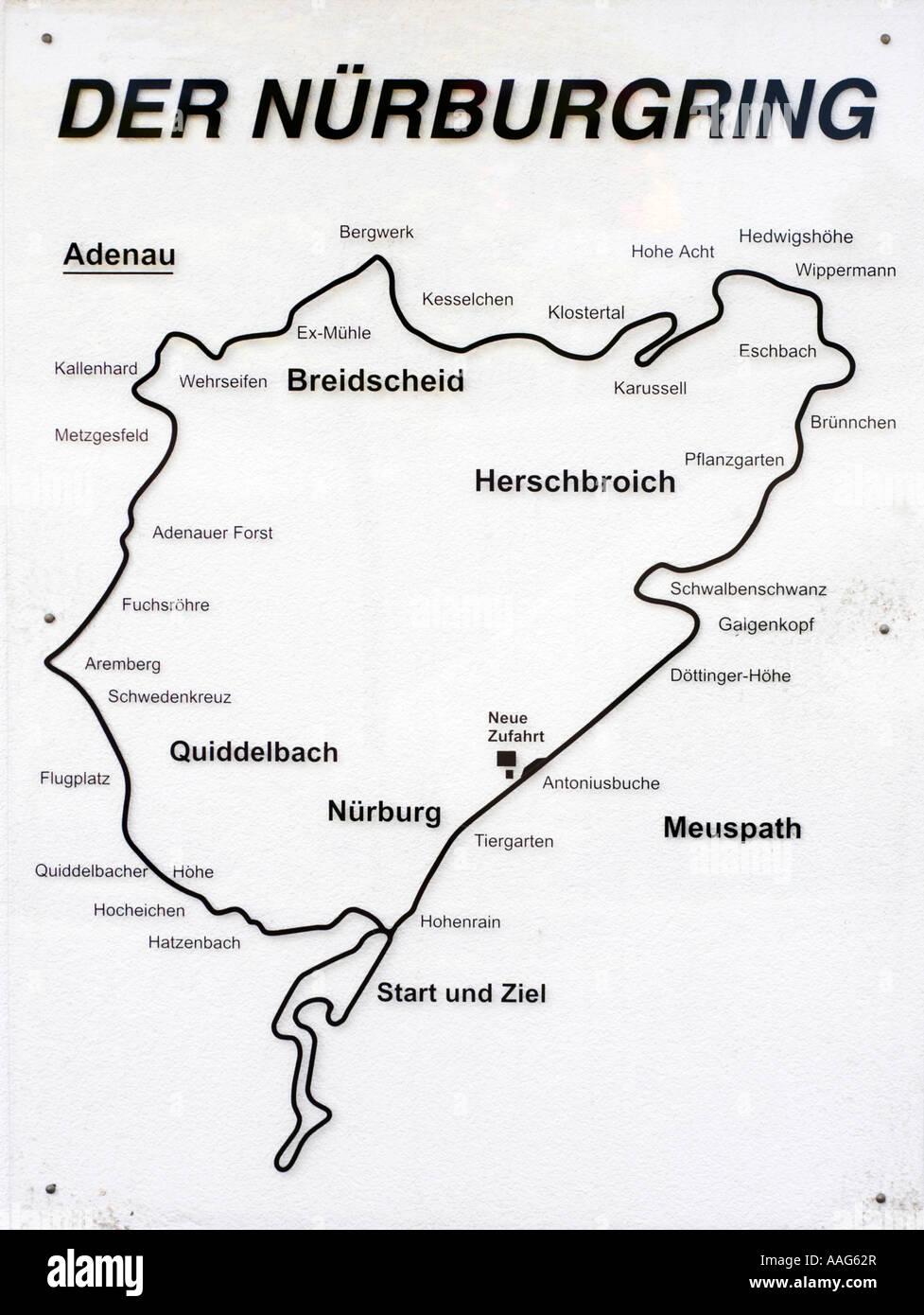 Ring Karte Den Zugang Der Offentlichkeit Eingang Nordschleife Auf
