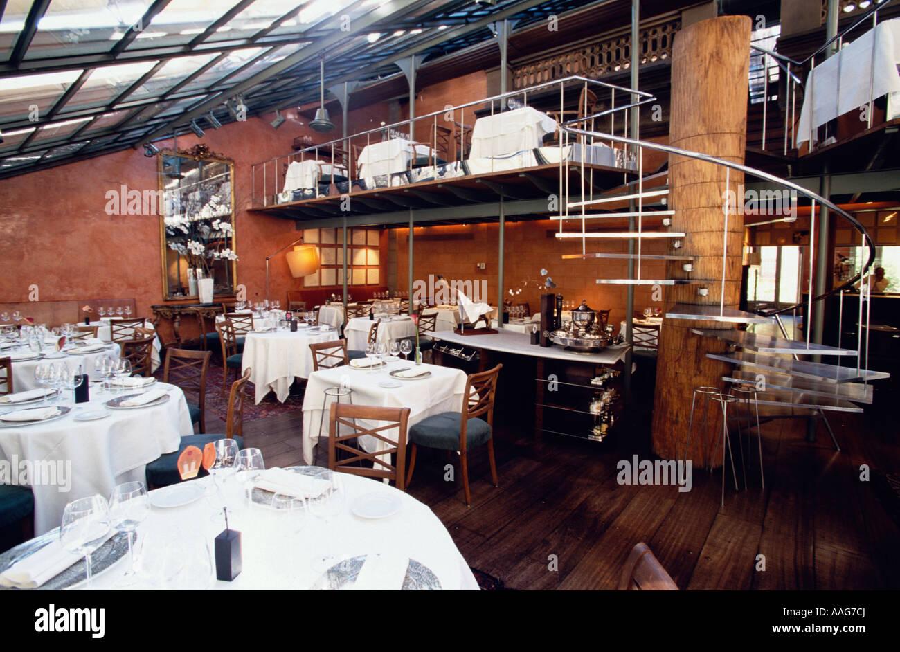 Tragaluz Restaurant Altstadt Eixample Barcelona Katalonien Spanien Stockfoto