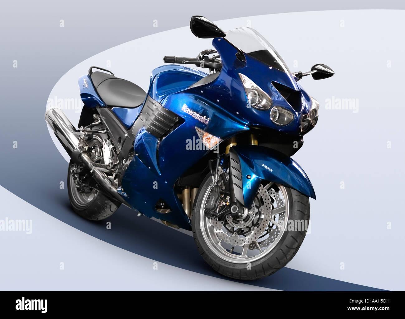 Kawasaki ZZR 1400 Motorrad Streetbike Fahrrad Isolierten Ausschnitt Stockbild