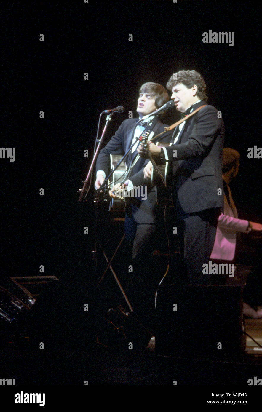 Die Everly Brothers im Konzert in 1985. Stockbild
